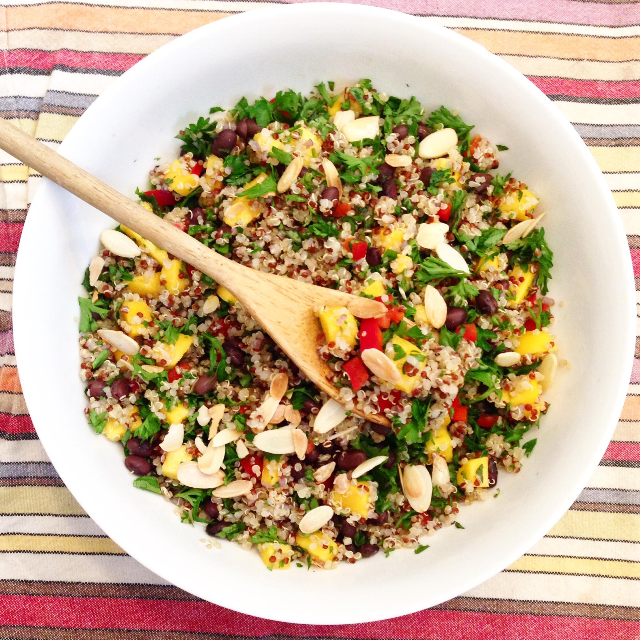 Clean-eating mango Quinoa Salad