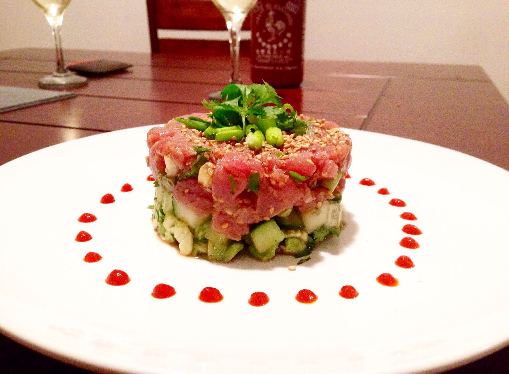 Tuna Tartare in sesame ginger sauce - Choosingchia