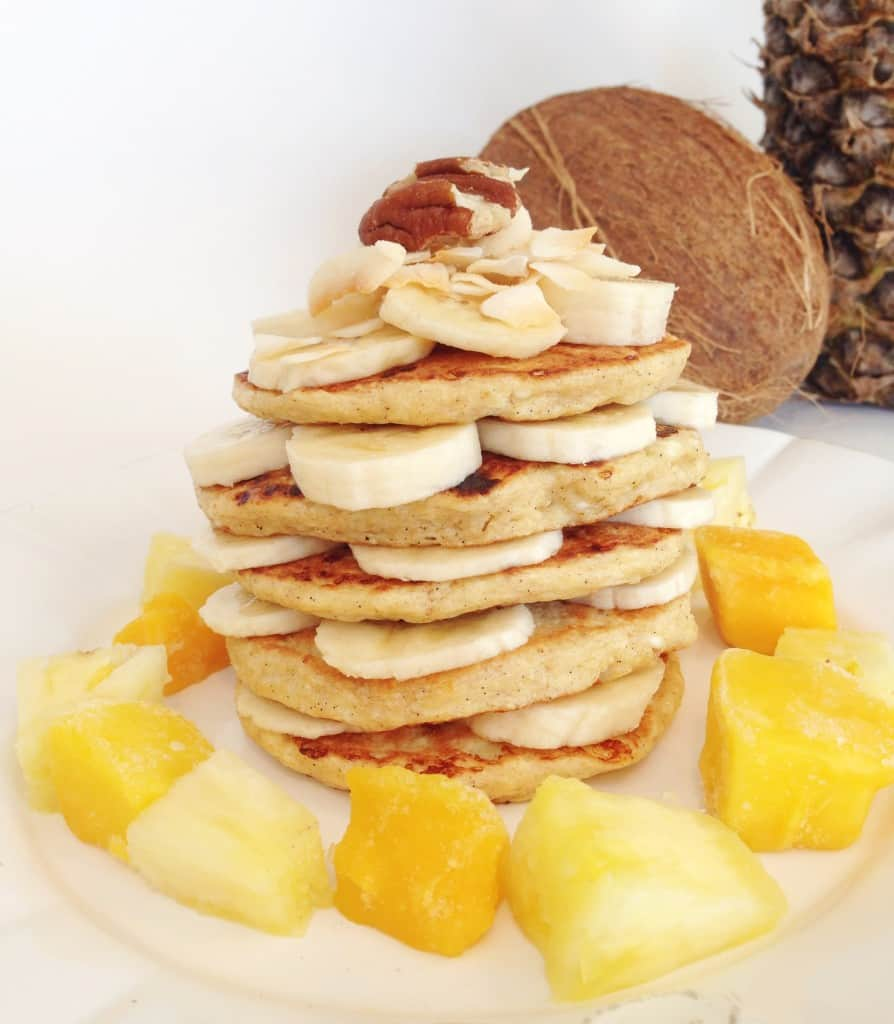 Gluten-Free Tropical Cottage Cheese Pancakes