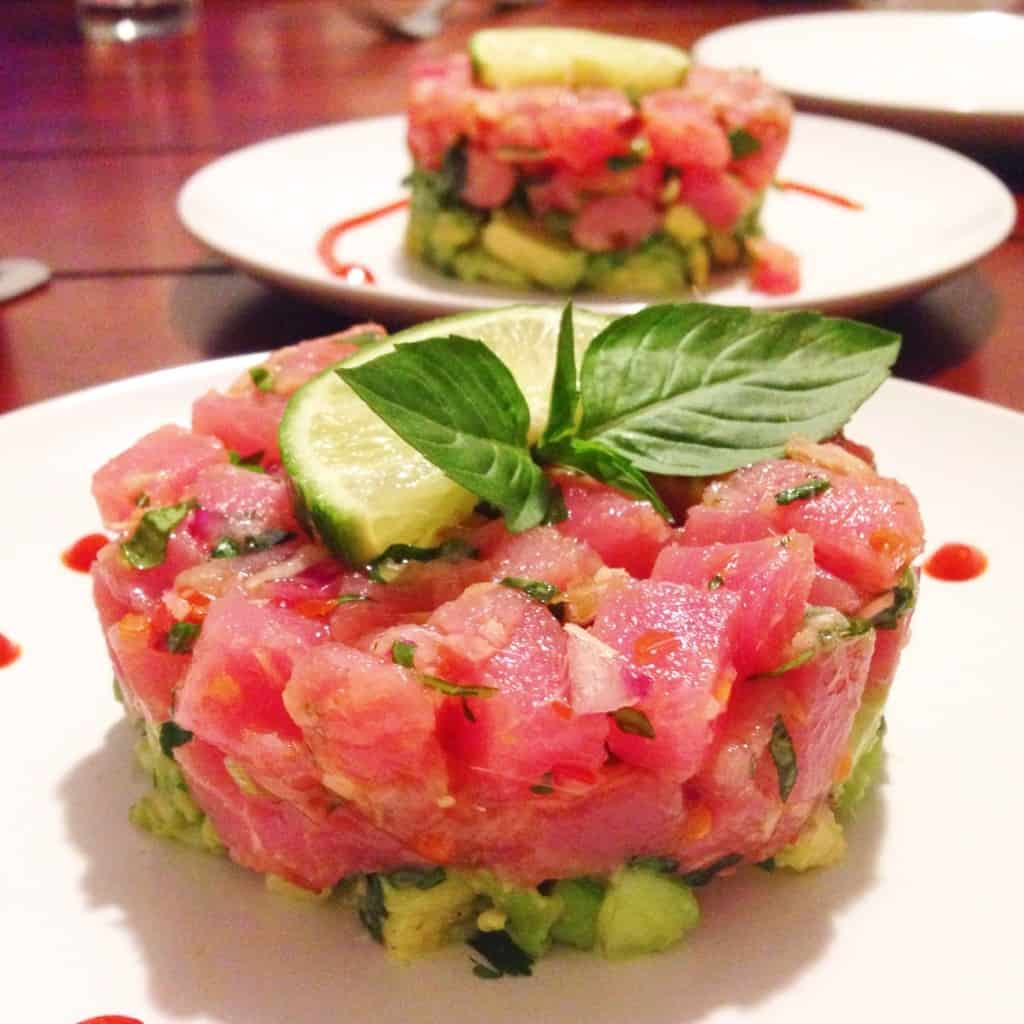 Thai Tuna Tartare - Choosingchia