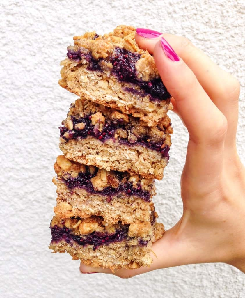 clean-eating blueberry crumble bars
