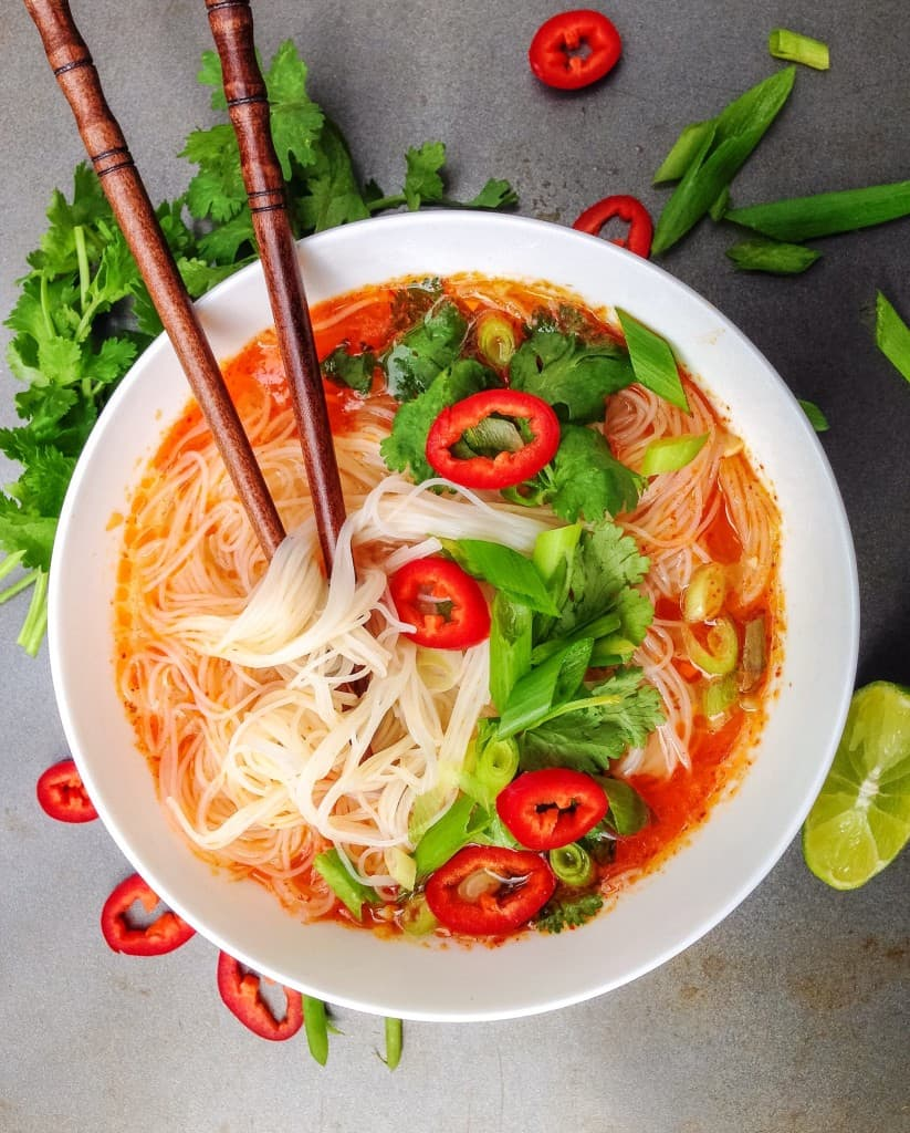 Thai Red Curry Soup - Choosingchia