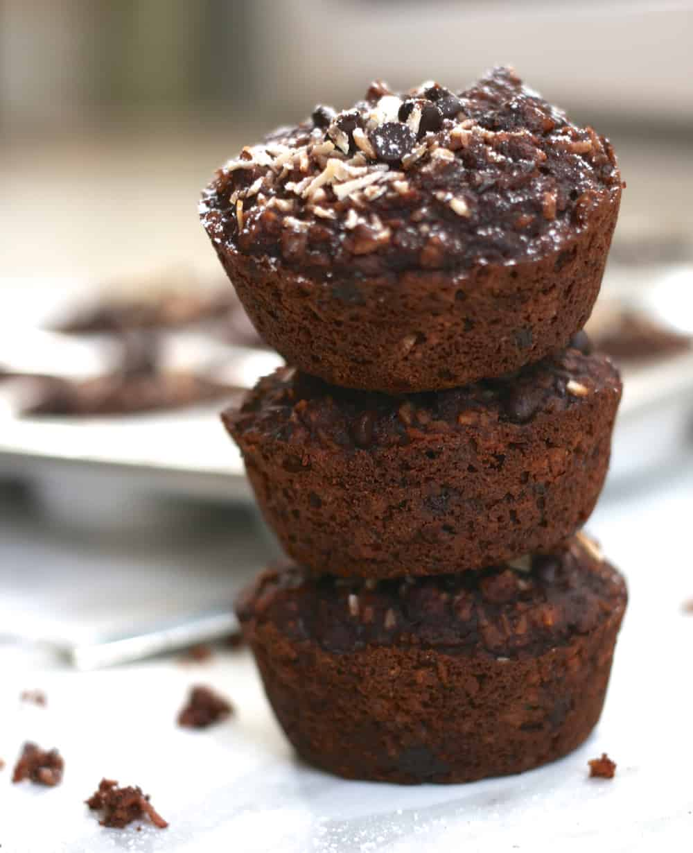 This recipe for double chocolate chip muffins is vegan, gluten-free ...