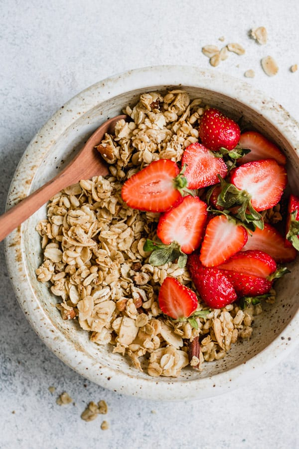 sweet and salty maple pecan granola