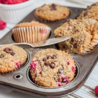 The Best Healthy Raspberry Muffins