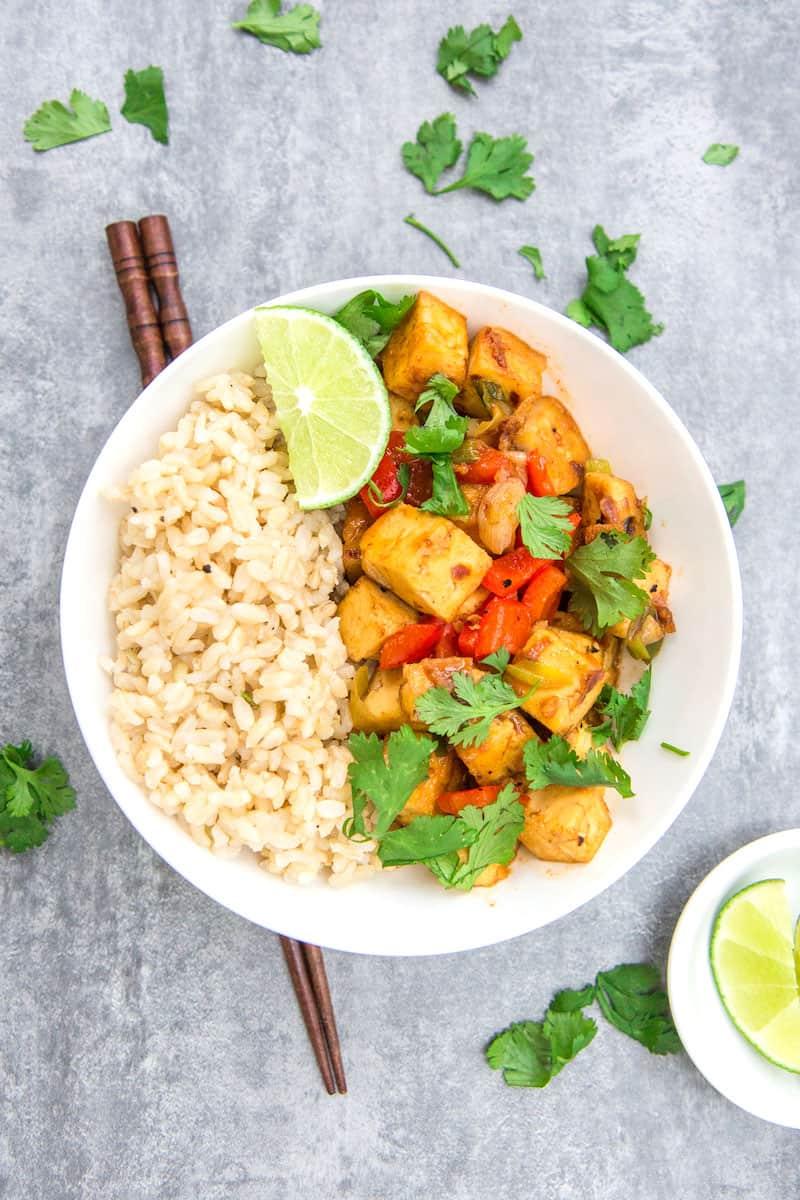 thai red curry tofu