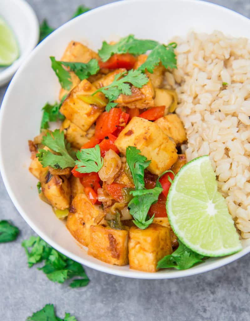 Thai coconut curry tofu - Choosingchia
