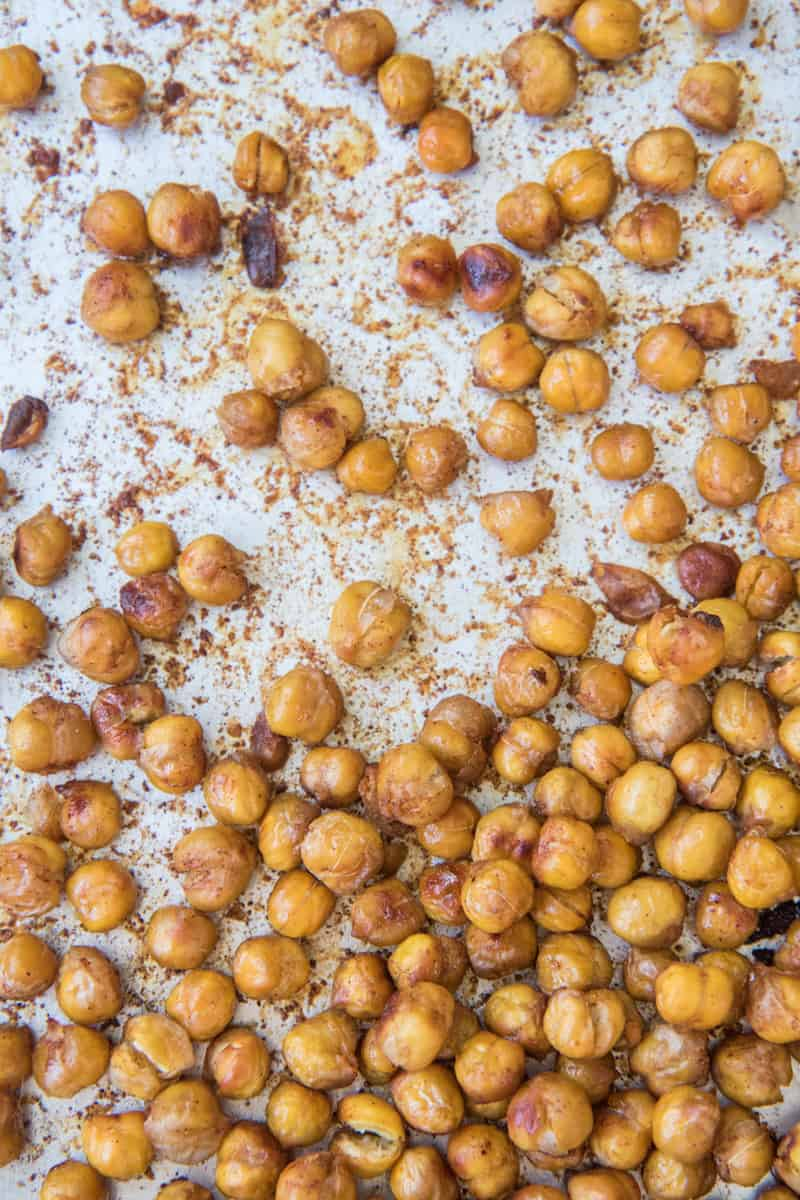 maple roasted chickpeas