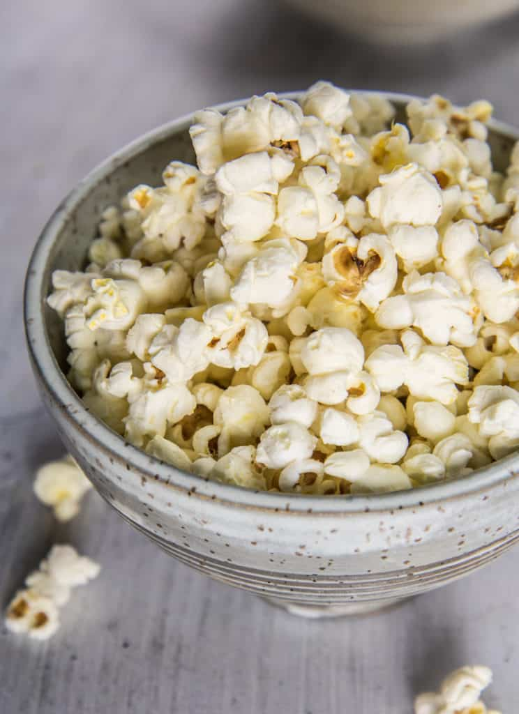 coconut oil and sea salt popcorn