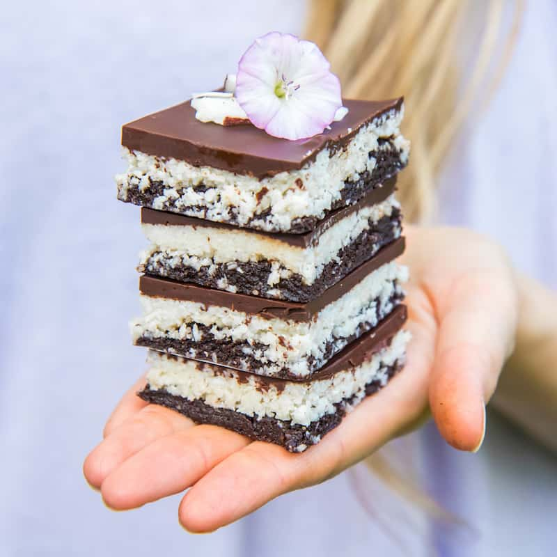 no bake chocolate coconut brownies