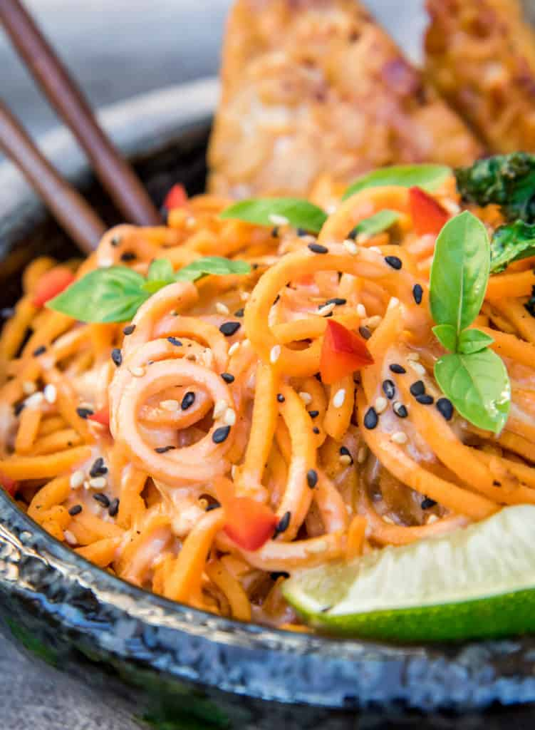 creamy sweet potato noodles