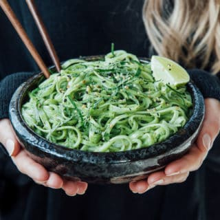 Creamy Thai pesto linguine