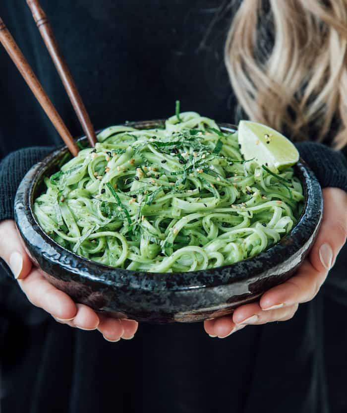 creamy Thai pesto linguini