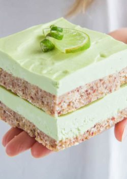 raw key lime pie bars
