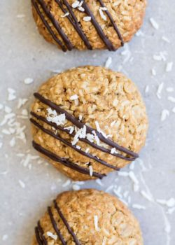 triple coconut oatmeal cookies