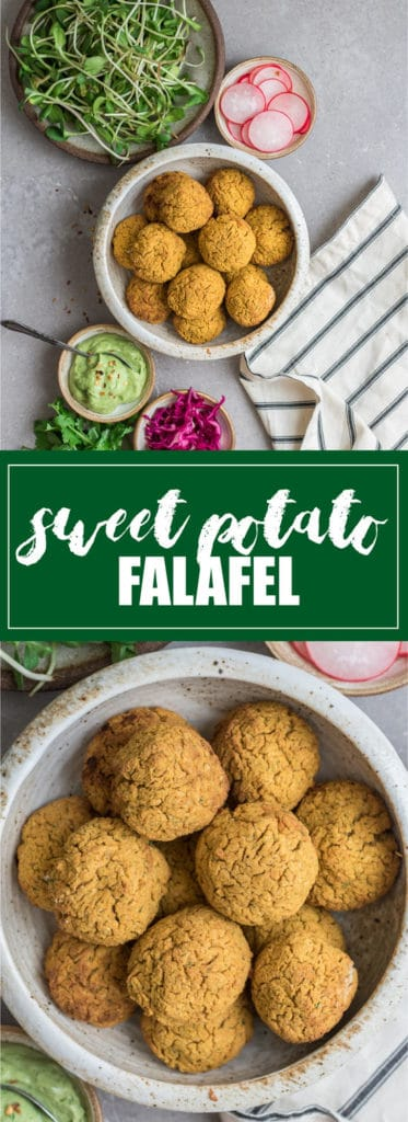 These sweet potato falafel balls are a healthy vegan meal! They're easy to make, healthy, and delicious!