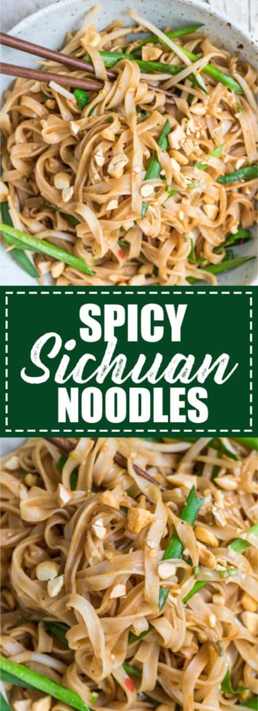 Choosingchia.com| These spicy sichuan noodles come together in less than 15 minutes! You'll love this quick and easy dish!