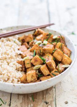 15 minute lemongrass tofu