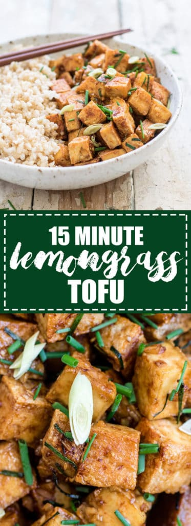 Choosingchia.com| This 15 minute lemongrass tofu is the perfect quick & easy dinner! I love this tofu recipe!