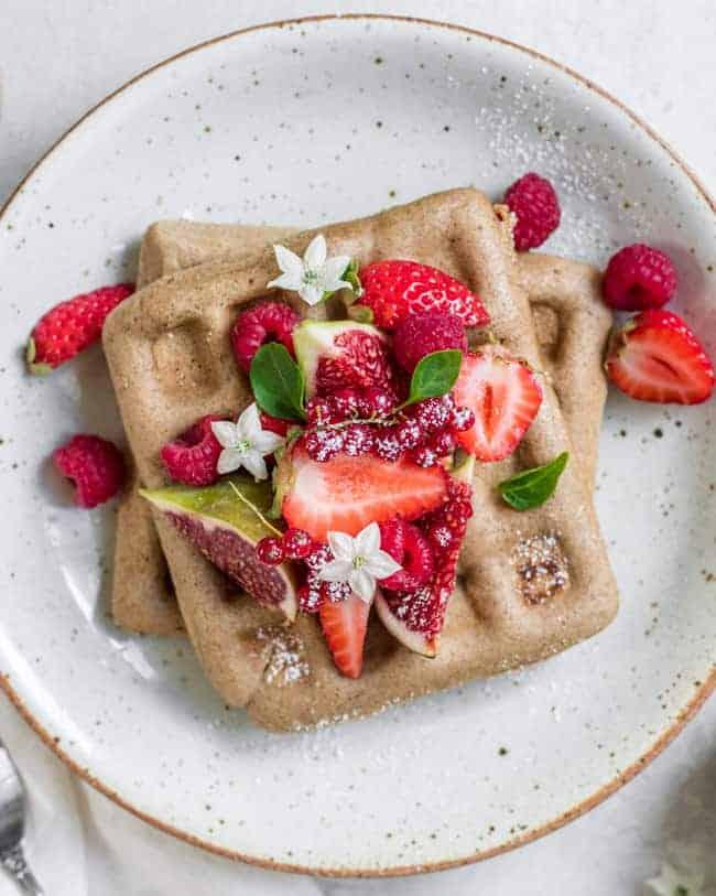 vegan buckwheat waffles