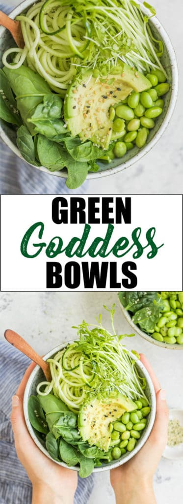 Choosingchia.com| Need an extra dose of greens? This quick and easy green goddess bowl has you covered! I love this bowl for an easy way to eat more greens!