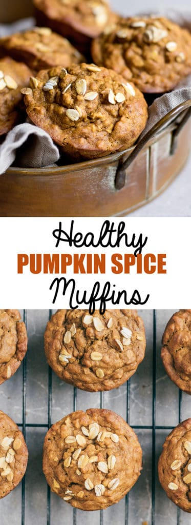 Choosingchia.com| These healthy pumpkin spice muffins make the perfect breakfast, snack, or dessert recipe for Fall!