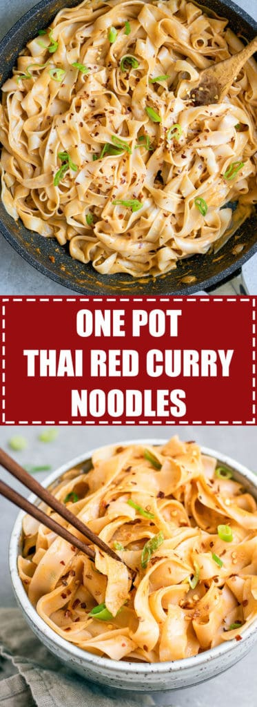 Choosingchia.com  These one pot Thai red curry only take 15 minutes to make! You'll love this quick and easy dinner that is also vegan and gluten-free!