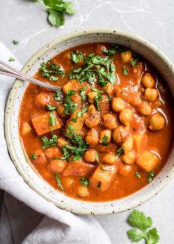 crockpot Morrocan chickpea stew