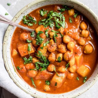 Crockpot Moroccan chickpea stew