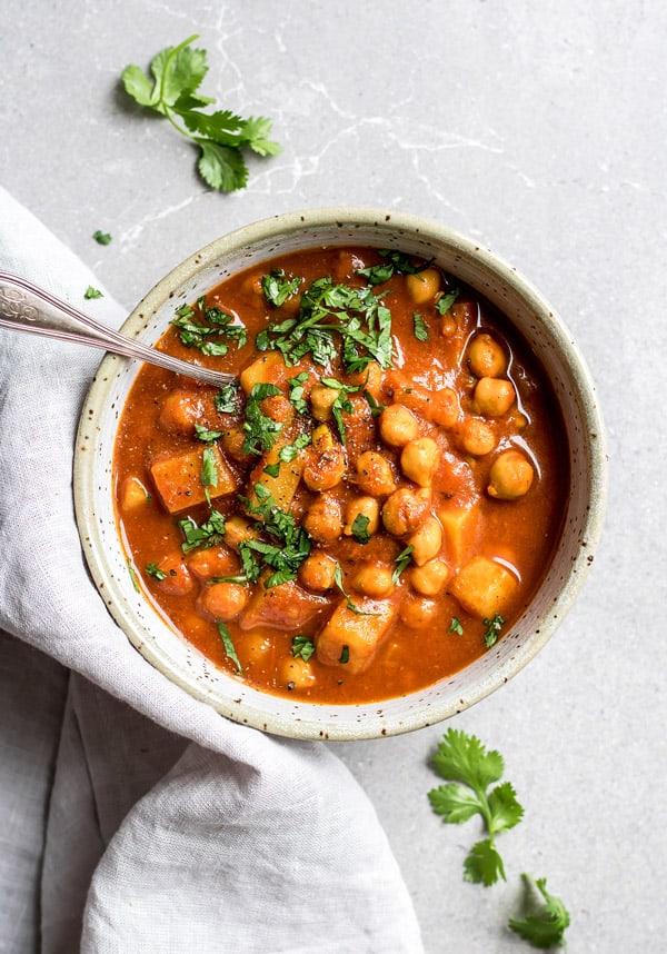 gluten free crockpot moroccan chickpea stew