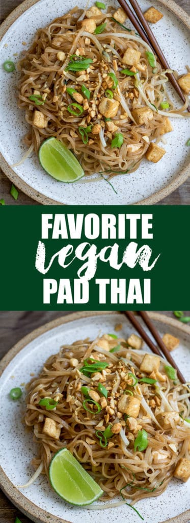 This is my favorite vegan pad thai! It's filled with authentic flavor, healthy, and easy to make!