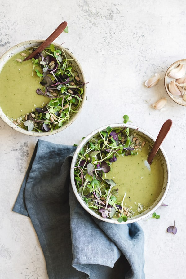 green goddess broccoli soup