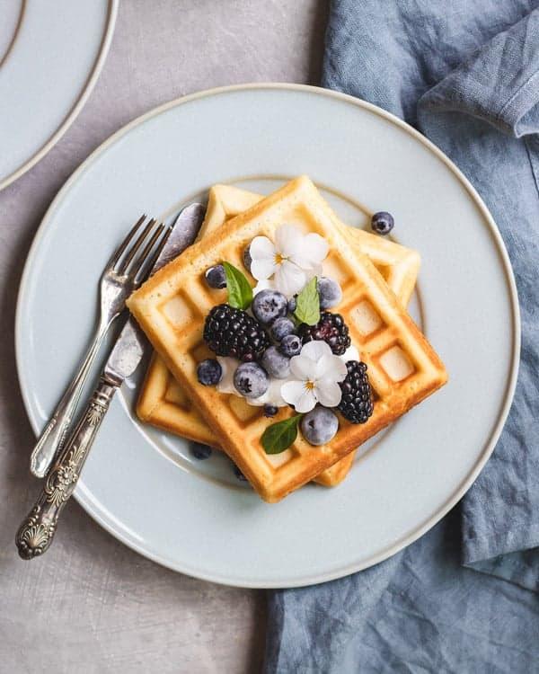 healthier Belgian waffles