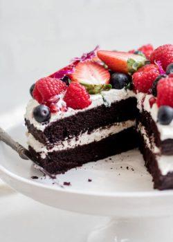 blender chocolate quinoa cake