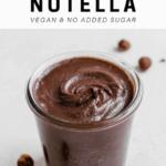 homemade Nutella in mason jar on counter