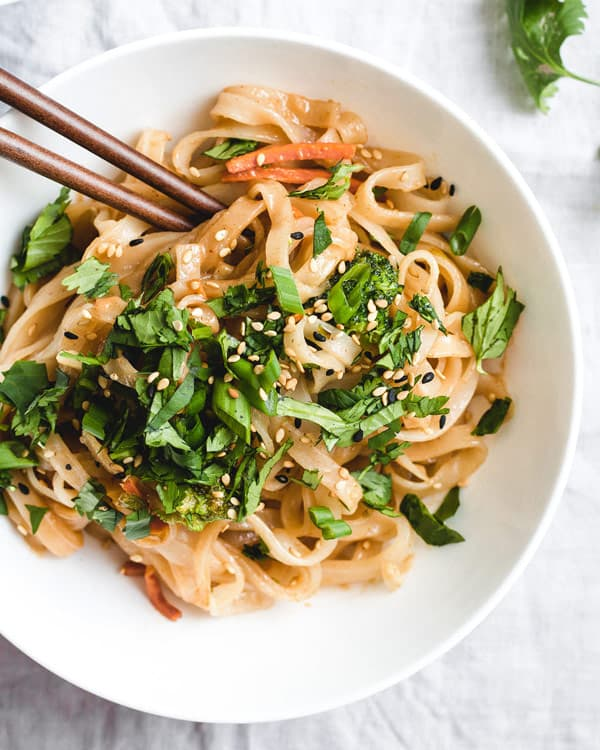 life-changing peanut butter noodles