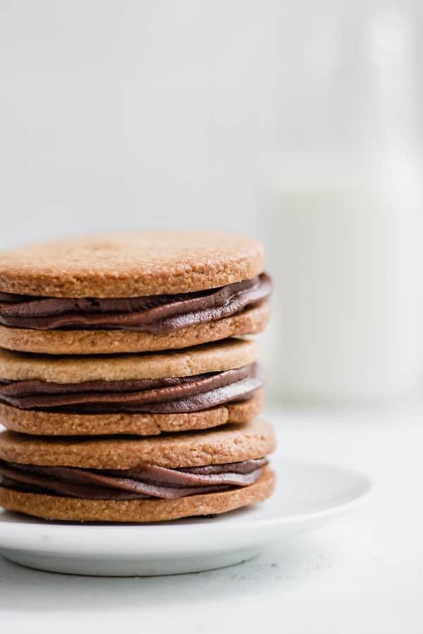 grain-free nutella stuffed peanut butter cookies