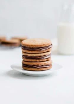 grain-free nutella stuffed peanut butter cookies