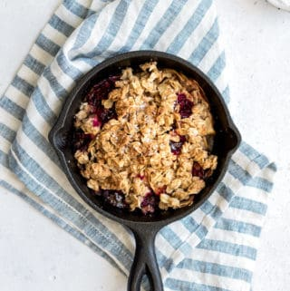 apple, raspberry+coconut crisp