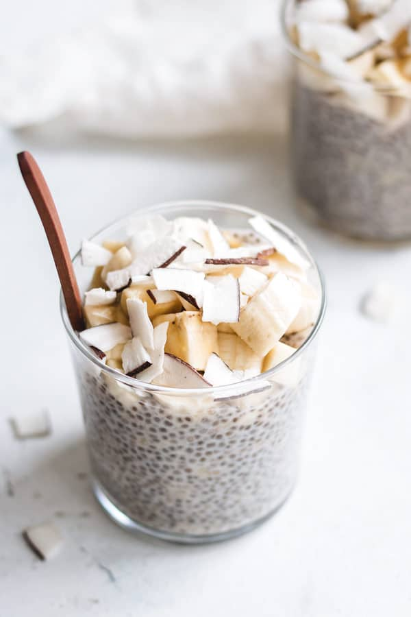 banana cream pie chia pudding