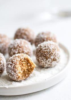 salted caramel coconut bliss balls