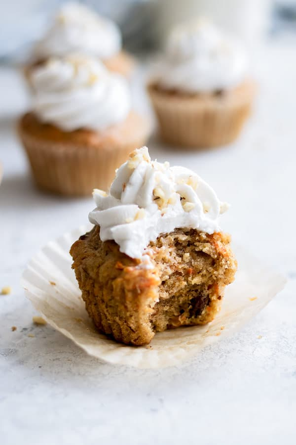 Vegan Carrot Cake Cupcakes With Coconut Whipped Cream Choosing Chia