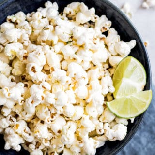 Popcorn with sea salt and lime zest