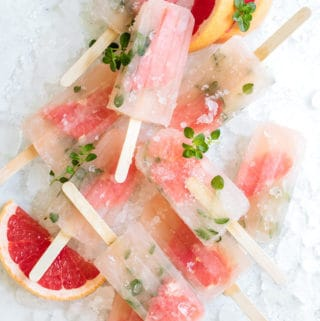 Grapefruit thyme popsicles