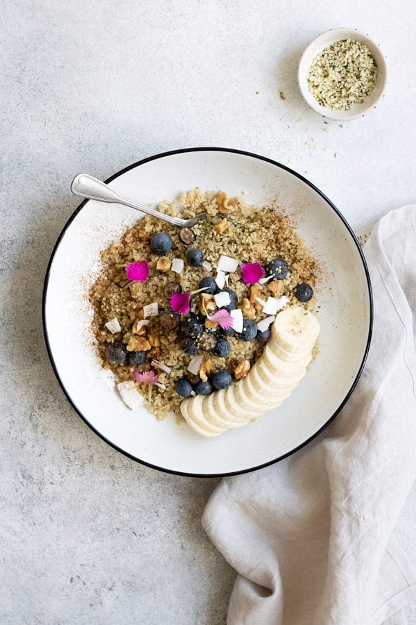 maple cinnamon breakfast quinoa
