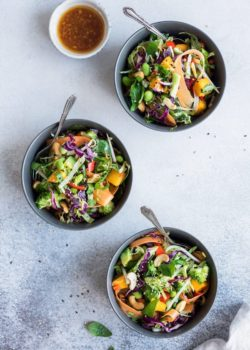 Thai crunch salad with sesame ginger dressing