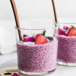 strawberry dragonfruit chia pudding