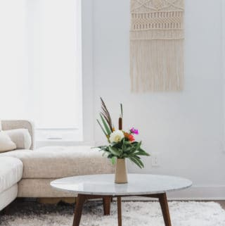 7 ways to create a zen living space & living room reveal!