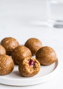 peanut butter and jelly energy balls