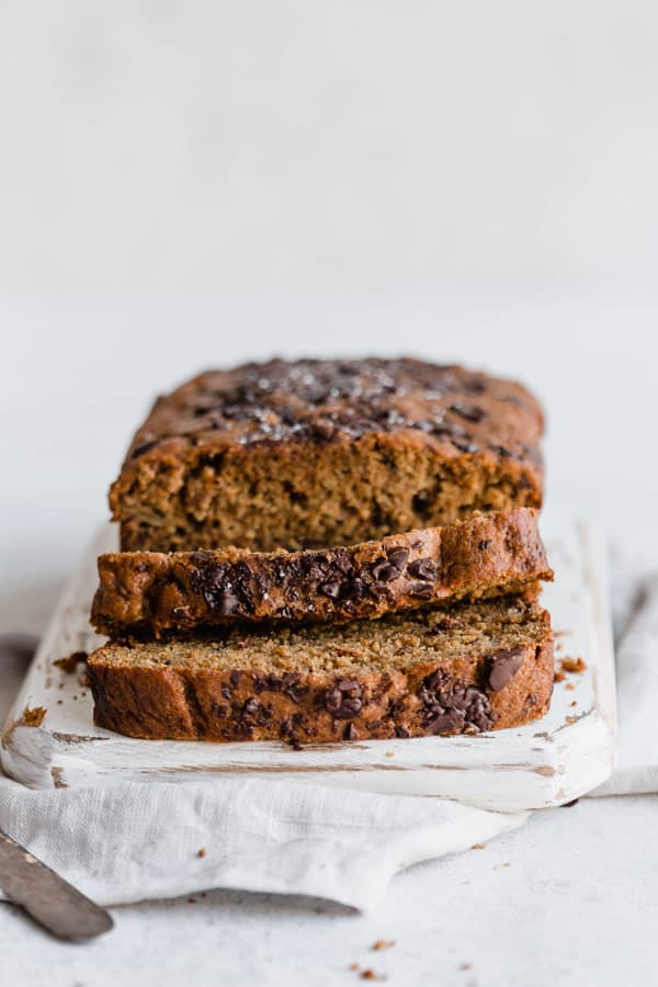 dark chocolate chip & rye banana bread